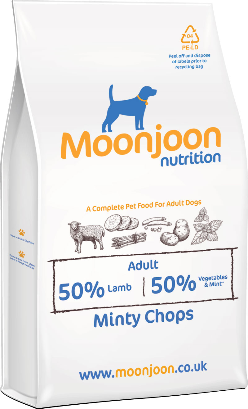 Minty Chops Dog Food by Moonjoon Nutrition