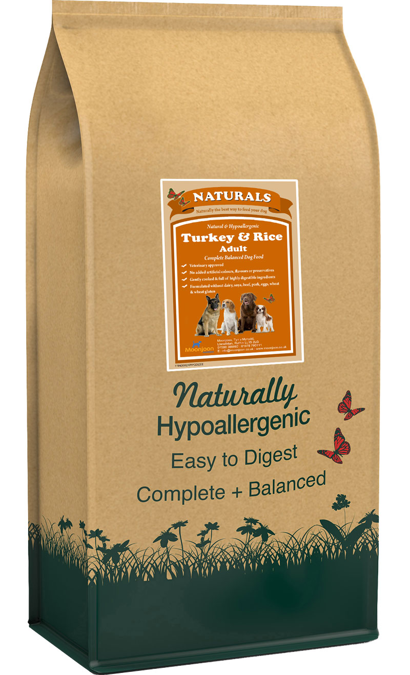 Naturals Turkey & Rice Dog Food by Moonjoon Nutrition