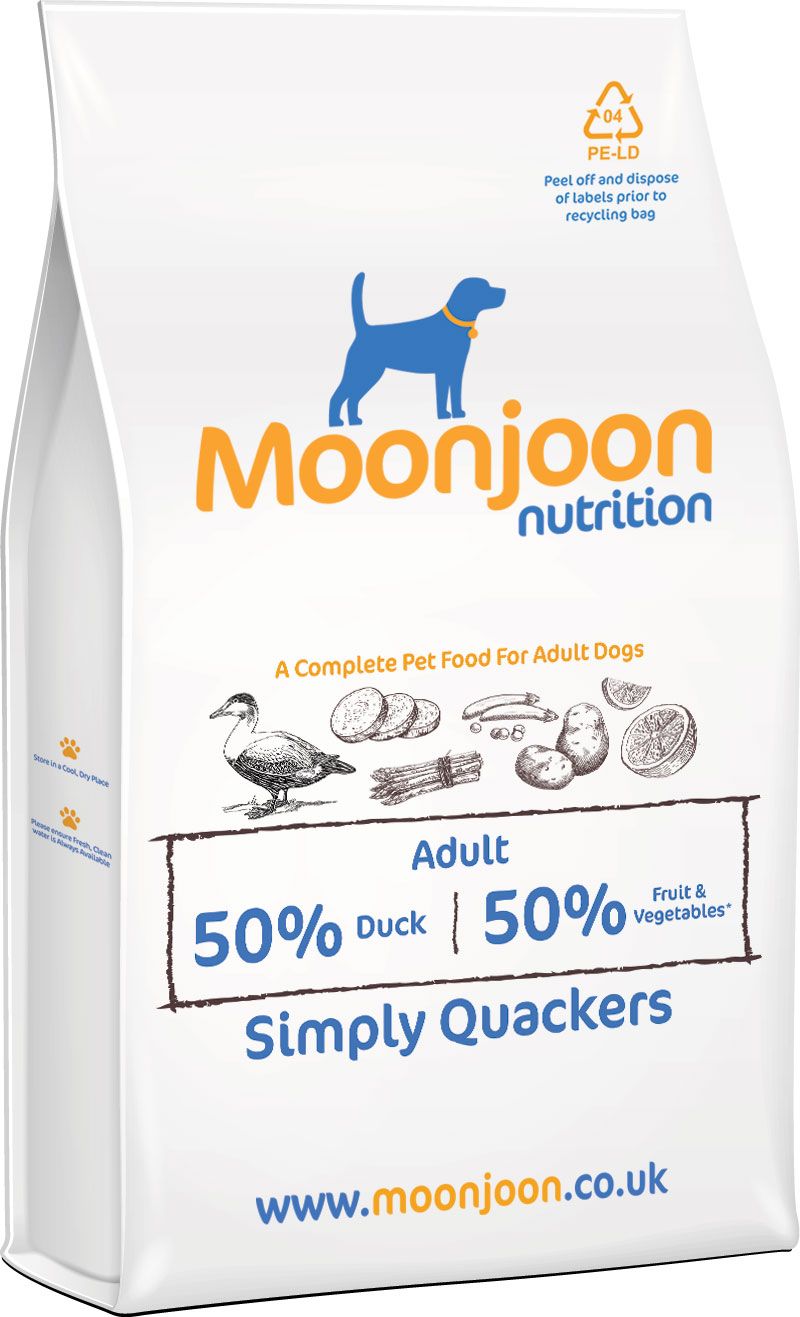 Simply Quackers Dog Food by Moonjoon Nutrition